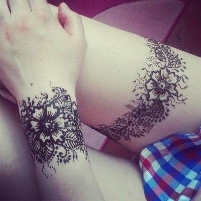 Татуировки временные своими руками